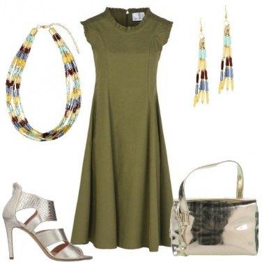 Outfit L\'abito verde militare