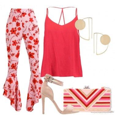 Outfit Pantalone a fiori