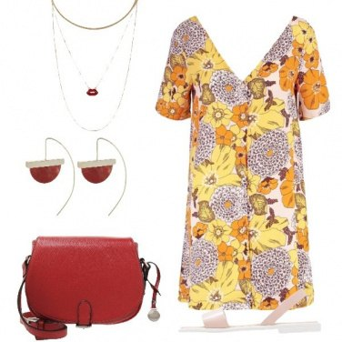 Outfit Giallo e rosso