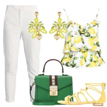Outfit Il top coi limoni