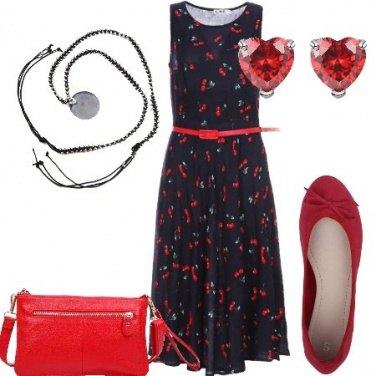 Outfit Ciliegie e cuori
