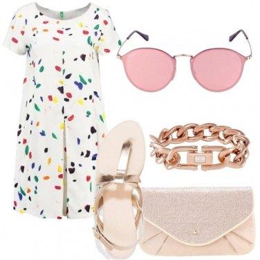 Outfit Rosa e oro