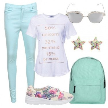 Outfit Sneakers fiorate