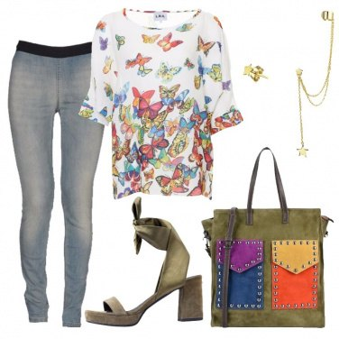 Outfit Un elogio di farfalle
