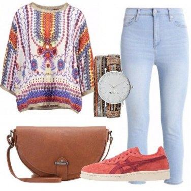 Outfit Tunica multicolor