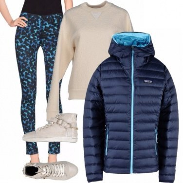 Outfit Maculato blu