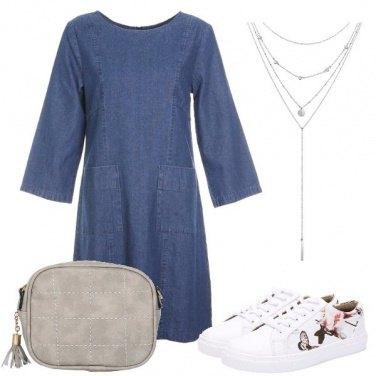Outfit Il vestito denim