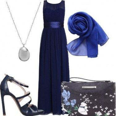 Outfit Cerimonia in blu