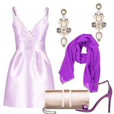 Outfit Viola di sera