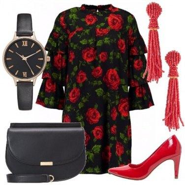 Outfit Abito con le rose