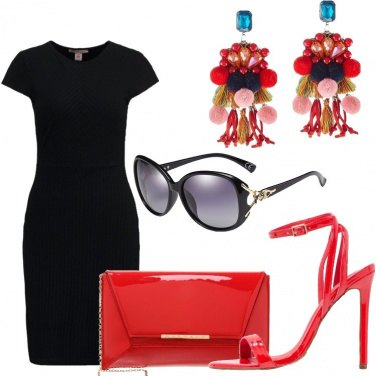 Outfit Rosso laccato