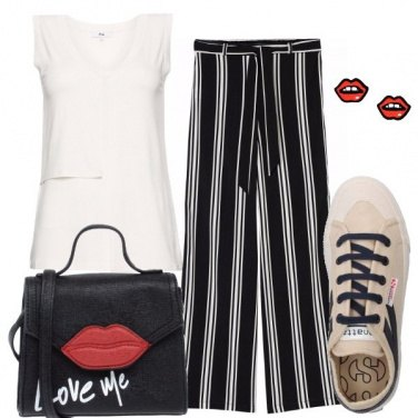 Outfit Nero bianco e baci