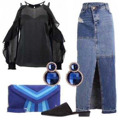Outfit Con la gonna di jeans