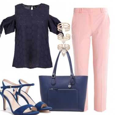 Outfit In rosa e blu
