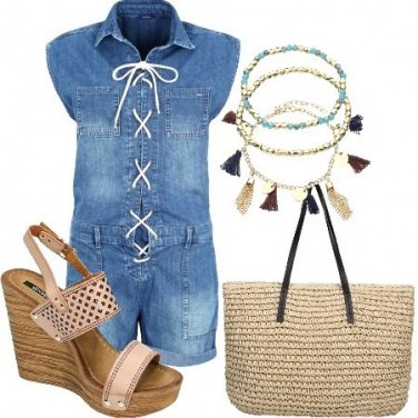 Outfit Playsuit in jeans