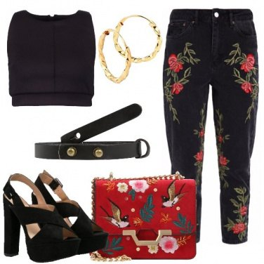 Outfit Ricami e denim