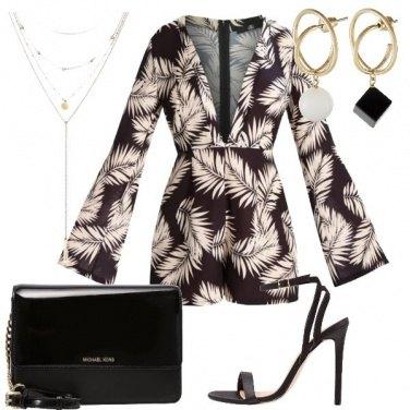 Outfit La tuta con le foglie