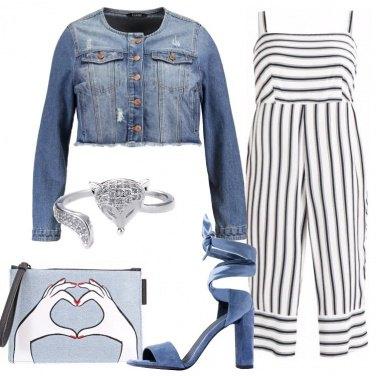 Outfit La jumpsuit rigata
