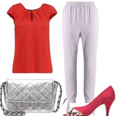Outfit Rosso e grigio