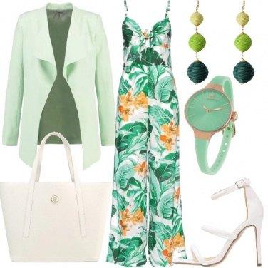 Outfit Tuta fantasia floreale