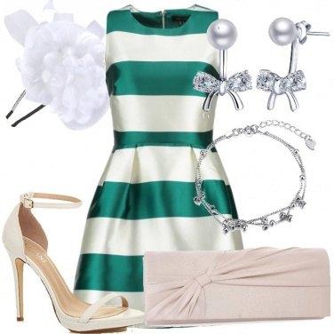 Outfit Bon ton con tacco a spillo