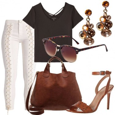 Outfit Cuoio protagonista