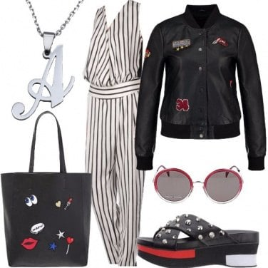 Outfit Il bomber con le patches