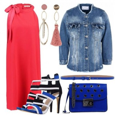 Outfit Sandalo multicolore