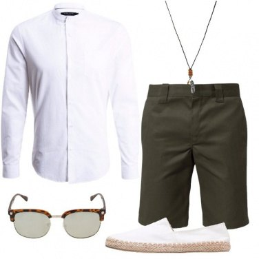 Outfit Bianco e verde