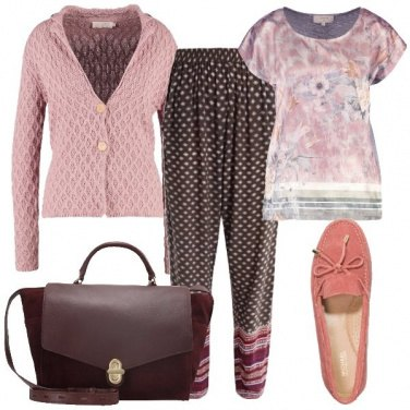 Outfit Mocassino rosa