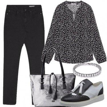 Outfit Inedito bianco e nero