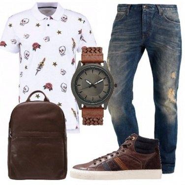 Outfit Polo e denim