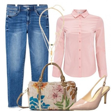Outfit Jeans e rosa