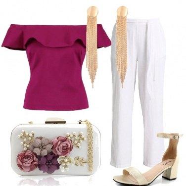 Outfit Oro e fiori