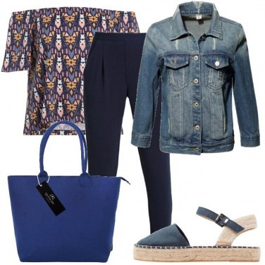 Outfit Giubbino in denim