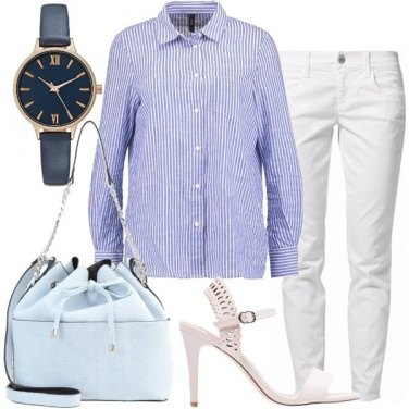 Outfit Camicia stampa a righe