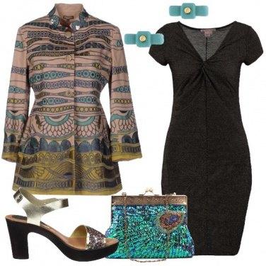 Outfit Tubino con fili laminati