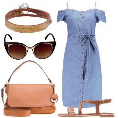 Outfit Denim con fiocco