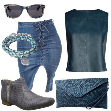 Outfit Gilet in ecopelle