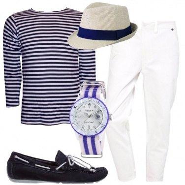 Outfit Mocassini blu