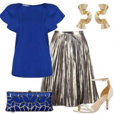 Outfit Intarsi onde e pieghe