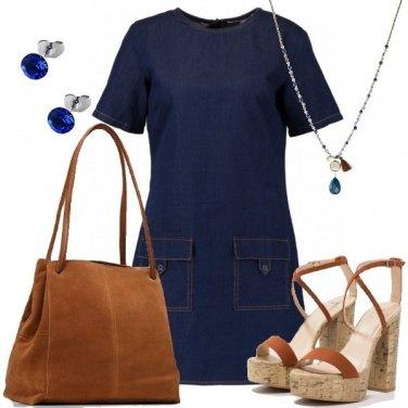 Outfit Il vestito in denim