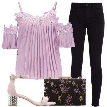 Outfit Uncinetto lilla