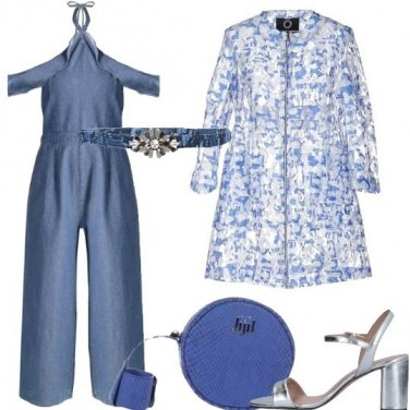 Outfit Una tuta chic in denim