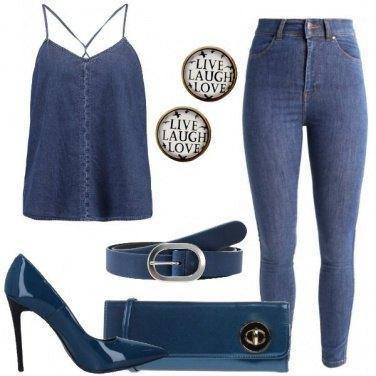 Outfit Denim e vernice