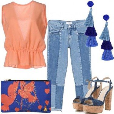 Outfit Arancio e nappine