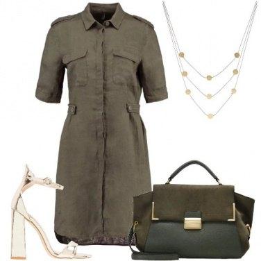 Outfit Lino e oro