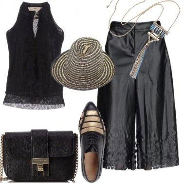Outfit Mannish in nero e oro