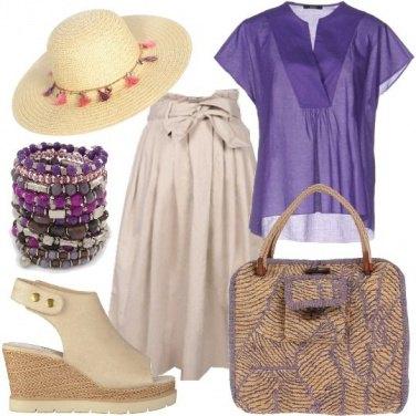 Outfit Intrecci di rafia coloniale