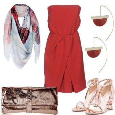 Outfit Rosso di sere estive
